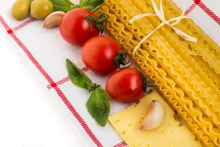 İtalyan mutfağı: Pasta Italian Cuisine.  Stok Fotoğraf