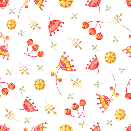 Handpaint watercolor vector seamless pattern. Perfect hand drawn texture for invitations, cards, web sites or for any other design.