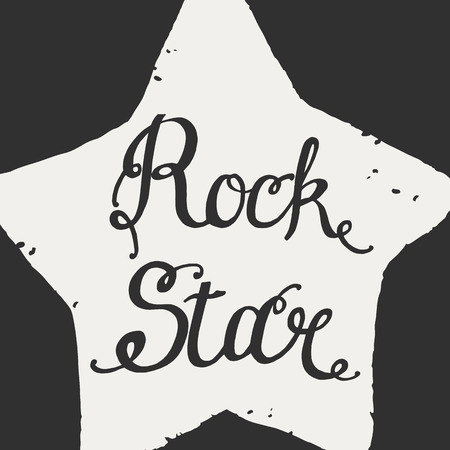 Rock star grunge icon for your design, vector illustration.