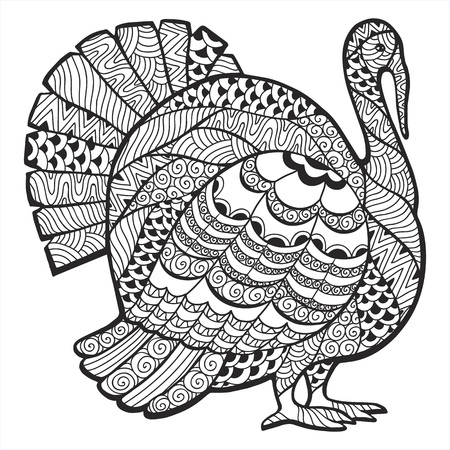 turkey: Turkey stylized illustration of thanksgiving.