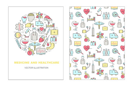 Vector templates on a theme medicine and Health symbols.  High quality vector logos for modern concepts.