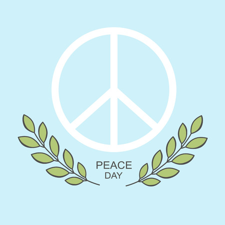 pacifist: Vector symbol and the olive branch on the international day of peace.