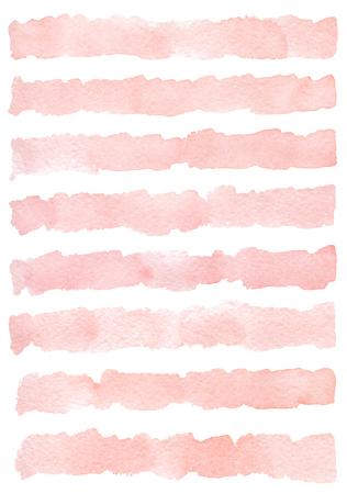 Aquarellhintergrund mit handbemalten Streifen. Standard-Bild - 80152812