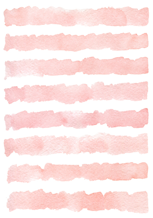 Watercolor background with hand painted stripes.