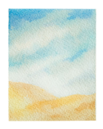 Watercolor vector background of landscape with desert. Imagens - 98273688