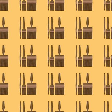 whitewash: Seamless pattern made of brushes. Illustration