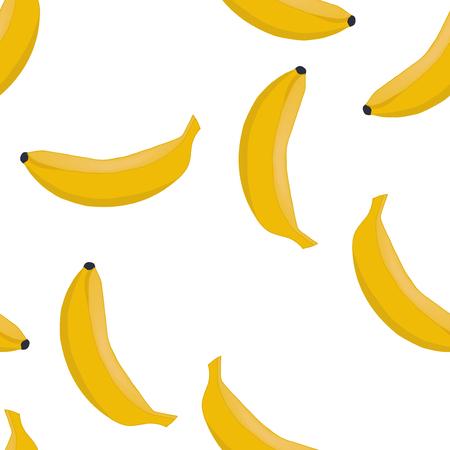 Seamless pattern background ripe bananas. Fruits vector. Illustration
