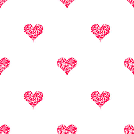 paperhanging: Seamless pattern background for scrapbooking. Vector wallpaper with hearts. Paperhanging. Warp for lovers. Basis for cloth