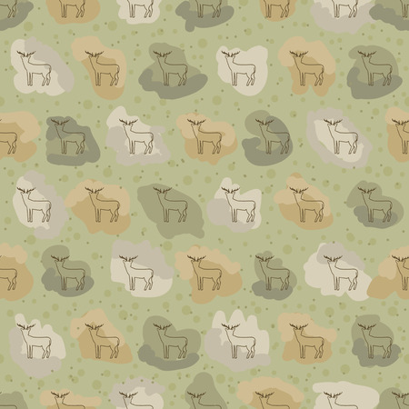 fond: Deer vector abb or warp for textile. Seamless pattern background hind. Contexture with fallow-deer . Scrapbooking doe
