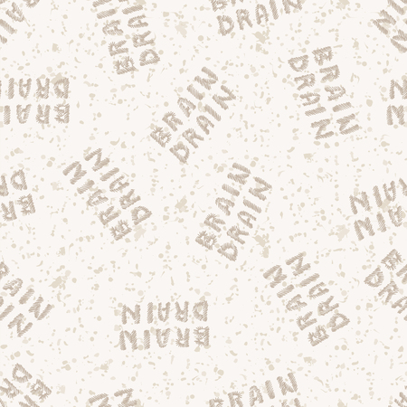 drain: The concept of brain drain. Simple text. Seamless pattern. The modern problem illustration Illustration