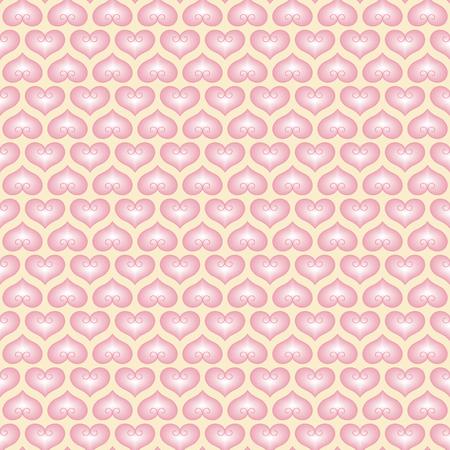 fond: White wallpaper with pink hearts. Pattern for Valentines day greeting. Vector pattern fond Illustration