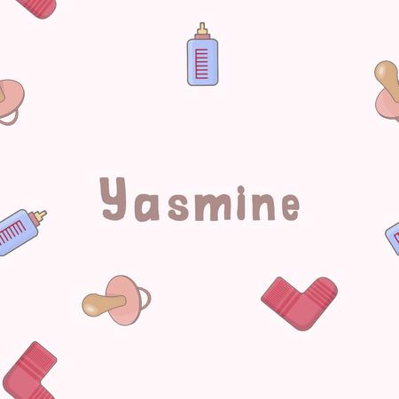 Pattern name Yasmine of the newborn.