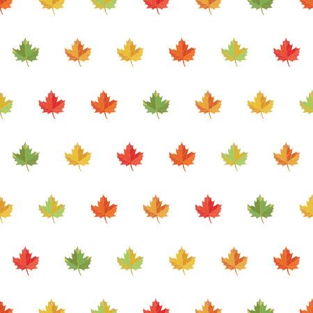 Seamless pattern background maple leaf. Vector autumn print. Illustration