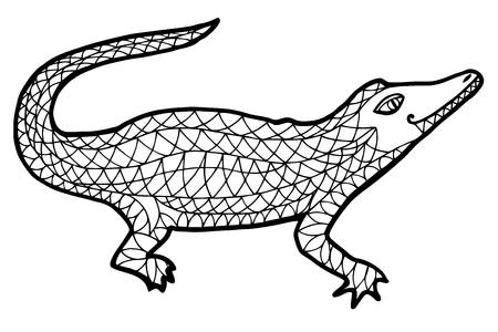 Crocodile Ilustración Vectorial Ilustraciones Vectoriales, Clip Art ...