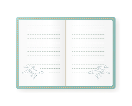 open notebook: Notebook illustration with birds design