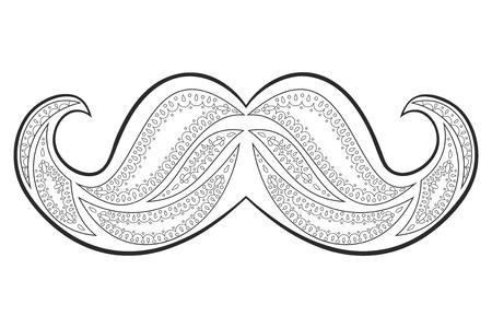 Ilustración De Vector De Zen Enredo Bigote. Zentangle Whisker. Libro ...