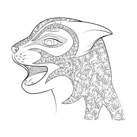 Zen Enredo Gato Con Sombrero Ilustración De Vector De