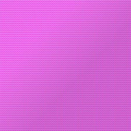 Sfondo pattern a maglia. Illustrazione di vettore di colore rosa tessuto maglione. Tessile per l'inverno.