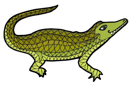 Crocodile ilustración vectorial