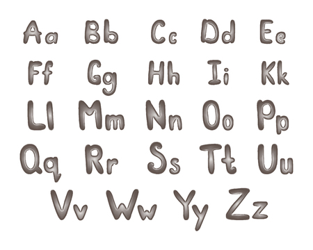 steel industry: Metal alphabet vector illustration. ABC of silver. Steel letters.