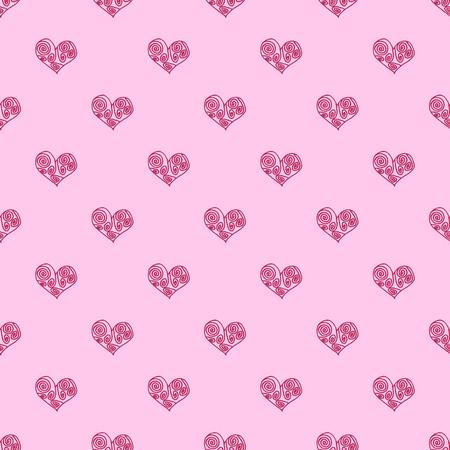 Naadloze patroon achtergrond met roze harten. Huwelijk behang vector illustratie.