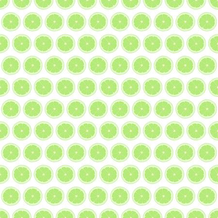 Seamless pattern background lime. Citrus fruit vector illustration.