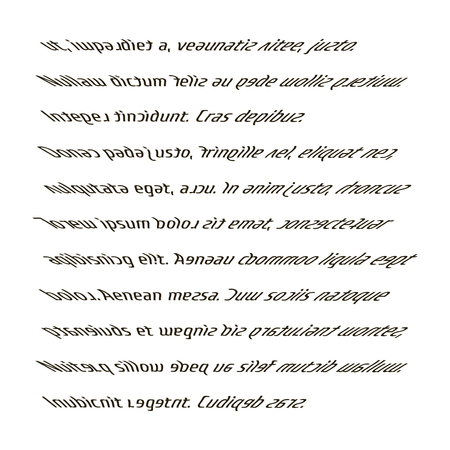 Page with text vector illustration. The reading of a person with dyslexia. The printed text blurry