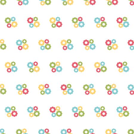 Building seamless pattern background. Repair icon. Vector illustration. Illustration