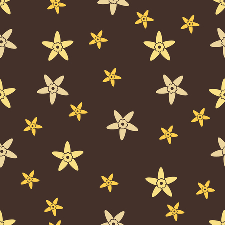A Seamless background flowers in vanilla. Floral wallpaper vector illustration. Illustration