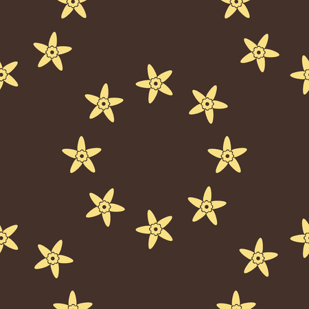 Seamless pattern background with vanilla. Flower vector illustration. Illustration
