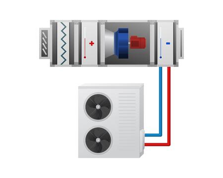 Air handling unit vector illustration Illustration