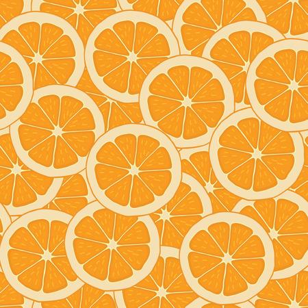 Seamless background pattern of oranges Illustration