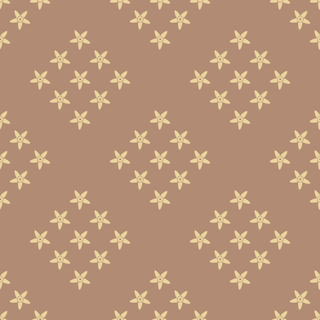 Vanilla seamless pattern background. Flower vector illustration.