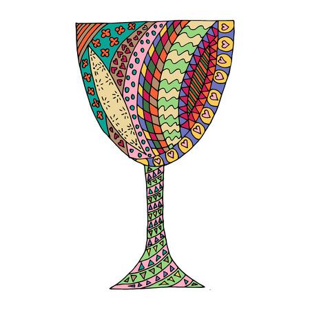 Colored glass tangle pattern. Zen vector illustration.