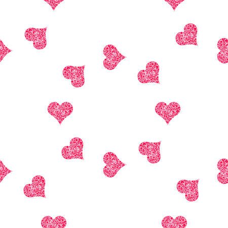 Seamless pattern background with hearts. Figure wipes vector illustration. Illustration