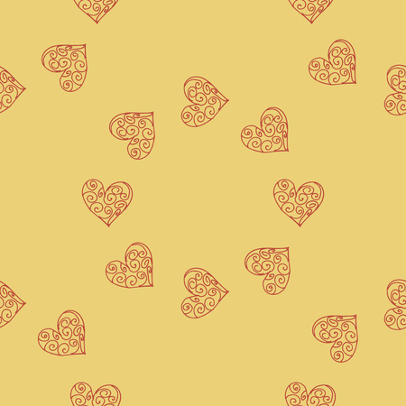 Naadloze patroonachtergrond met harten. Scrapbooking vectorillustratie. Stock Illustratie