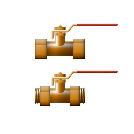 Brass shut-off valve  illustration.