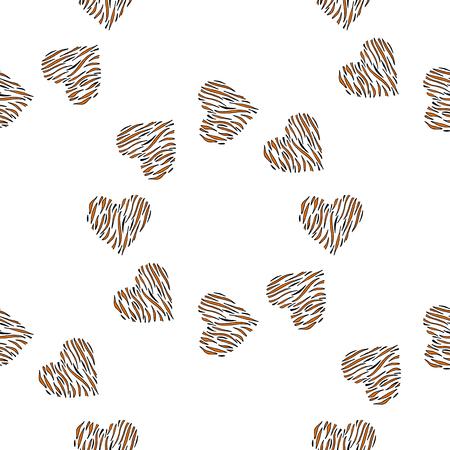 Heart seamless pattern vector background. Heart print skin. Illustration