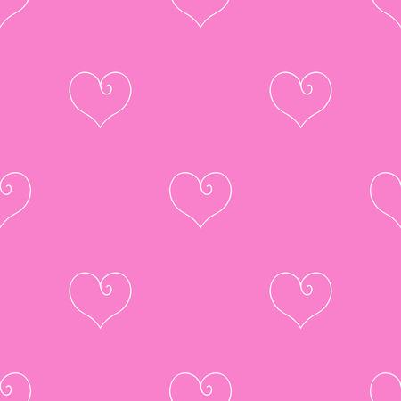 Hart vectorillustratie Naadloze patroon roze achtergrond. Doek scrapbooking.