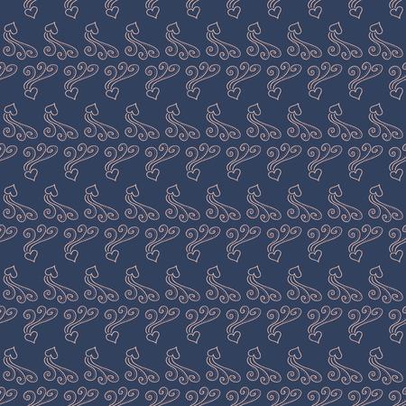 Naadloze patroon blauwe achtergrond met roze harten. Scrapbooking vectorillustratie. Stock Illustratie