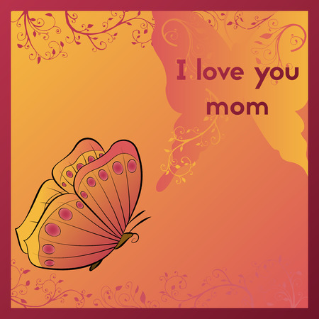 Greeting card for mother's day. Stok Fotoğraf - 88213957