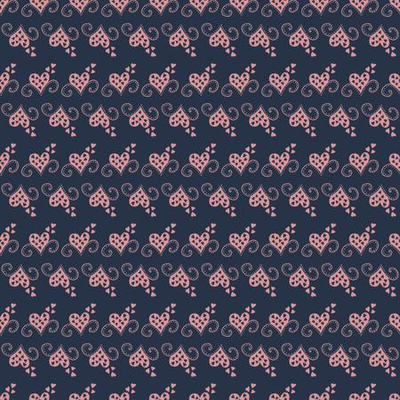 Patroon met roze harten. Stock Illustratie