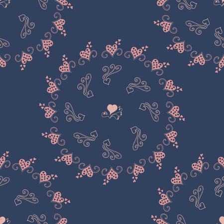 Patroon met harten. Stock Illustratie