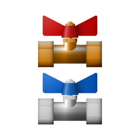 Regulatory valve vector illustration. Equipment for refrigerant.