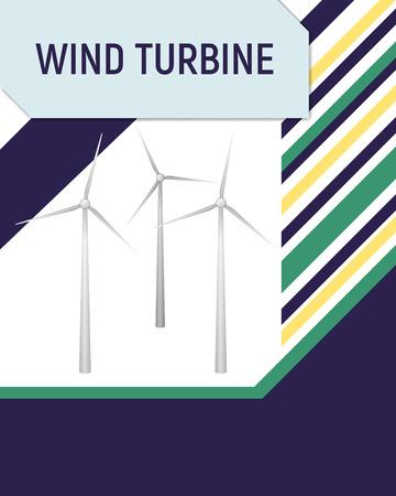 regenerating: Turbine wind vector illustration. Renewable energy. Illustration