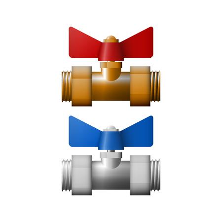 Regulation valve vector illustration. Equipment for fuel.