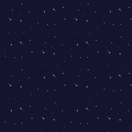 Seamless pattern background of the cosmos. Vector illustration.