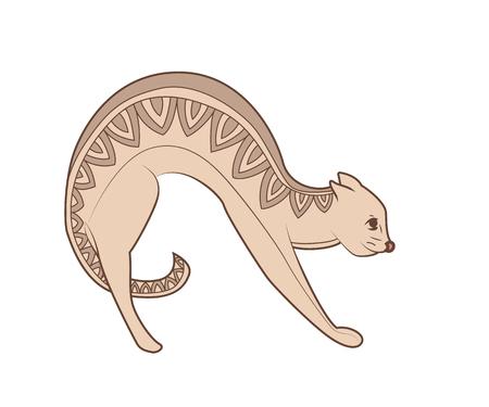 Zen tangle and doodle vector cat. Zentangle animal. Zendoodle domestic pet. Illustration