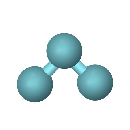 The molecular formula of ozone. O3 vector illustration. The abstract model. 일러스트