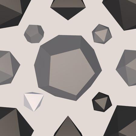 3D modern seamless pattern background. Vector illustration. Illustration